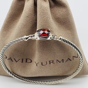 David Yurman Petite Wheaton Garnet/Diamond